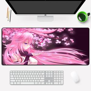 Large Gaming Anime Mouse Pad Gamer Pink Sexy Girl Yae Sakura XL MousePad Grande Personalized Rubber Laptop Desk Keyboard Pad LJ201031