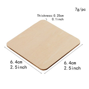 Blank Wood Chips Originality Painting Arts And Crafts Square Fashion Unfinished Adult Children Wooden Slices Party Props 0 23ty K2