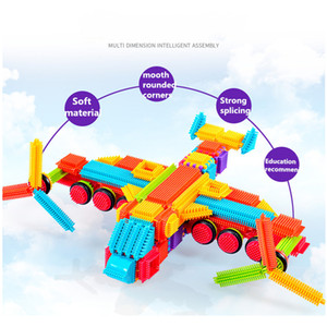 Large-particle hedgehog soft rubber building blocks 3-6 years old jigsaw toy children use their brains, puzzles and environmental protection