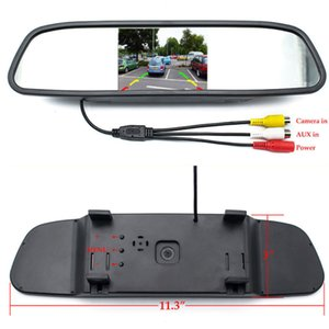 4.3 inch Car HD Rearview Mirror Monitor CCD Video Auto Parking Assistance LED infrared Vision Reversing Rear View Camera
