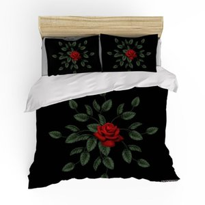 Bedding Set Queen Beautiful Flowers Bedding Set Menina Planta Down Colcha Capa Único Luxo Adulto Bed