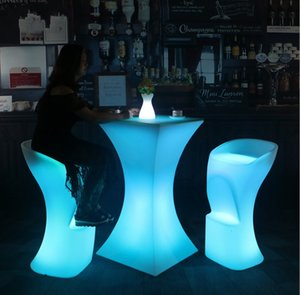 New Led illuminated Bar Chair seat waterproof LED light up Bar stool chair outdoor use with remote control