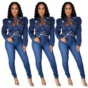 Women's Jackets Denim Women's Jacket With Lapel And Long Sleeve Jacket With Button-Down Pocket Top For Street Wear