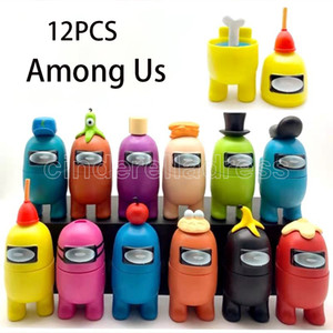 12pcs set Among Action Figures Game Toys AMUS Car Decoration Dolls Christmas PVC Cute funny model Birthday Gifts