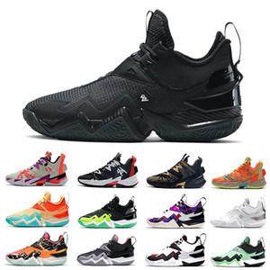 أسود الأسمنت WestBrook 3.0 واحد تأخذ رجل كرة السلة الأحذية المانجو نظيفة الأبيض النيون لماذا لا zer0.3 الرجال المدربين الرياضة أحذية رياضية 40-46