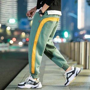 UYUK Sonbahar / Kış Yeni erkek Japon Büyük Boy Patchwork Pamuk Polar Sweatpants Streetwear Homme Joggers C0228