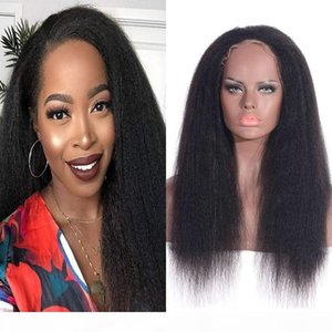 Peruvian Human Hair Wig Kinky Straight 13x4 Lace Front Wig 360 Lace Frontal Wigs For Women 8-24 inch