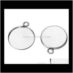 50 Pcs Stainless Steel Cabochon Base Setting Diy Stainless Steel Charms For Earrings Crafts Making More Size For Choice T31Ge Iwfzo