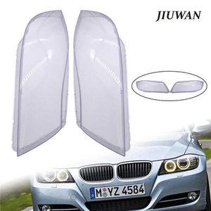 Left 1 Pair & Right Car Headlight Transparent Lens Covers Front Headlamp Shell Auto Light Accessories For BMW E90 2004-2007