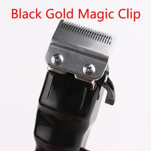 2021 Siyah Altın Sihirli Erkekler Elektrikli Saç Kesme Akülü Yetişkin Jilet Profesyonel Yerel Kuaför Saç Düzeltici Köşe Jilet Hairdresse İyi