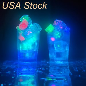 Ice Cube Put Into Water Drink Punch bowl Flash Automatically Led Light for Party Wedding Events Bars Christmas USALIGHT