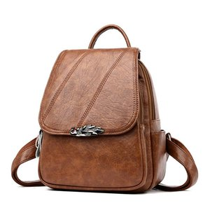 Backpack Shoulder Bag Women 2021 Fall winter Soft Leather Travel Fashion Leisure Women's Small