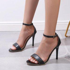 Women Sandals Ladies High Heel Slippers Open Toes Thick Heel Female Slides Summer Shoes Slip-On Breathable Woman Shoe Feminine