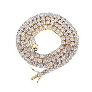 Роскошные 3mm5mm CZ CZ Crystal Tennis Braclets Hip Hop Cleiged Out Gold Silvery Color Change мужской браслет для женщин мужчин свадебные украшения 210310