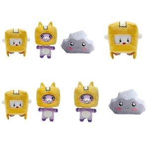 New Carton SIMS Plush Toy Lankybox Transformed Into Cat Pillow Cartons Headgear Stuffed Animals Christmas Toys For Children's Birthday