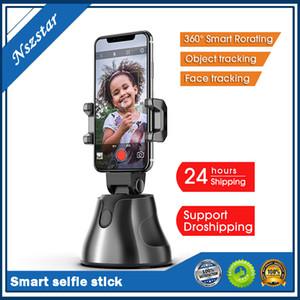 Oto Akıllı Çekim Selfie Sopa 360 ° Nesne Takip Tutucu All-in-One Rotasyon Yüz İzleme Kamera Telefon Tutucu
