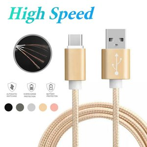 Metal Housing Nylon Braided USB Cable Charging Type C Cables 2A Durable High Speed with 10000 Bend Lifespan for Android Smart Phone