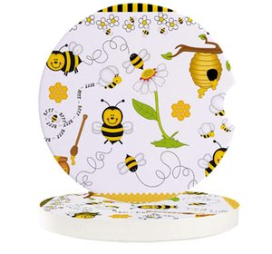 Table Runner Bee Cartoon Car Coasters Set Heat Resistant Placemats Drink Mat Tea Coffee Cup Pad Waterproof Creative Decor