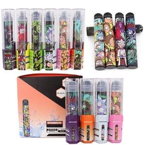 Disposición Vape Pen Puff Rick XXL Kit de inicio de cigarrillos 2000puffs 6ml Cartucho Barra de hojaldre Plus POD pre-aliviado
