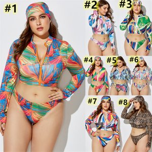 Plus size 5XL Women swimwear sexy 3 piece swim suits high stretch bikini sets top+headband+bikini sexy bathing suit skinny swimsuit 4513