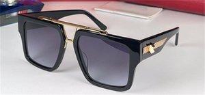 fashion men sunglasses 1009 sports car shape design square frame animal decoration temples versatile style uv400 protective glasses top quality