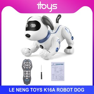 LE NENG TOYS K16A Electronic Pets Robot Dog Stunt Dog Voice Command Programmable Touch-sense Music Song Toy Kids Birthday Gift
