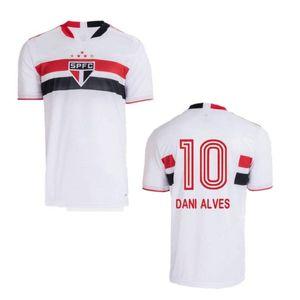 2021/22 Sao Paulo Soccer Jerseys 2022 # 7 Pato # 10 Dani Alves Uniform Mens # 9 Pablo Hernanes Peres Camicia da calcio