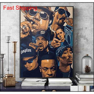 Fashion West Coast Hip Hop Tupac Music Poster And Prints Canvas Painting On Wall Art 2pac Picture For Hom qylLjd toys2010
