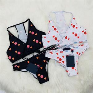 Swimwears 21ss Women Fashion Bikinis Letter Printed Contrast Color Swimsuit Breathable Summer Sexy Bikini Good Quality Womens Swimwear
