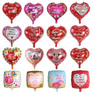18-inch mother day balloons heart-shaped aluminum foil balloons mother day party decoration balloons