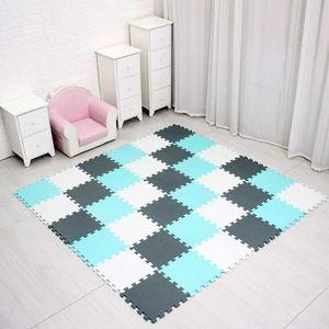 meiqicool baby EVA Foam Play Puzzle Mat  18 or 24 lot Interlocking Exercise Tiles Floor Carpet Rug for Kid,Each 29cm*0.8cm H0831