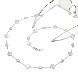 High quality Luxury fashion hand chain square pearl Beads Reading eyeglass chain Sunglasses chain holder landyard Jewelry