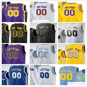 Custom Printed Los Angeles 23 Anthony LeBron Davis James 6 Lakers Kyle Kuzma Dennis Schroder Alex Caruso Andre Drummond Men Women Kids Youth Basketball Jerseys