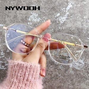 Mode Sonnenbrillenrahmen -0.75 1.0 1,25 1.5 bis -4,0 Anti-Blau-Licht-Myopie-Brille Frauen-Männer Unregelmäßige kurzsichtige Brillen-Rezept