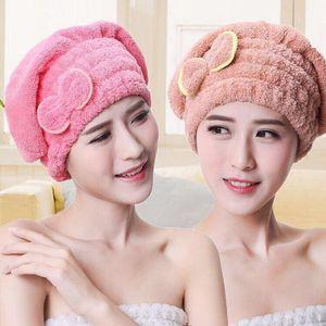 Microfiber Hair Towel Turban Towel Quickly Hair Drying Women Girls Ladies Absorbent Shower Cap Bathroom Products D2