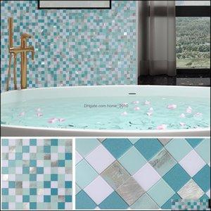 Flooring Building Supplies Home & Gardenbenice Mosaic Backsplash Peel And Stick,Adhesive Tiles Stickers For Kitchen,Bathroom(5Sheets Blue Mi
