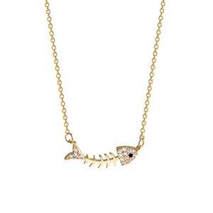 2021 Nouveau collier de poissons à la mode, facile à porter Clavicule Chaîne coréenne Collier de haute qualité élégant