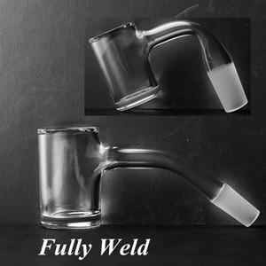Fully Weld Quartz Banger 10mm 14mm Male Beveled Edge Seamless Quartz Banger For Bongs Terp Pearls Oil Rigs DHL Free Shipping FWQB01