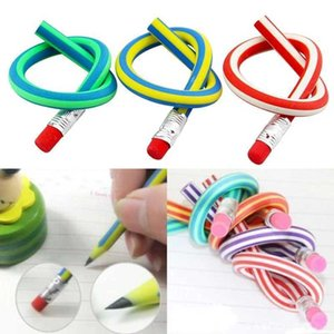 Colorful Magic Bendy Flexible Soft Pencil With Eraser Stationery Student Rubber Lead Pencils Children Gift Pencil Party Supplies