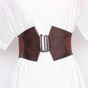 Ceinture de corset femme taille plus ceintures de taille pour femmes grandes Cummerbunds Designer Elastic Big Ceinture Femme Femme Courroie de robe de haute qualité 210628