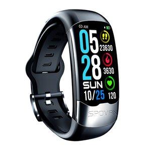 SPOVAN Smart Bracelet Sport Band With ECG Activity Tracker Blood Pressure Heart Rate HRV Sleep Monitoring Watch Waterproof 2021