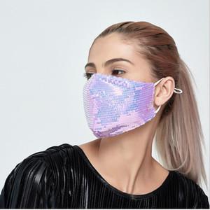 PM2.5 filter mask spring summer cloth masks Sequin mask dustproof washable adult masks breathable women's face mask