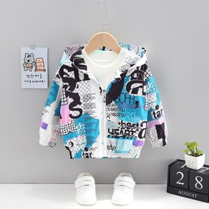 Clothing Sets Baby Boy Fashion Letter Hooded Zipper Jacket Toddler Girl Outfits Cute Cartoon Autumn Clothes