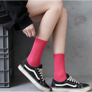 Salina Ladies Socks Winter Spring New Year Short Tube Ordinary Fashion 18 Pure Color Collocation Sports Leisure Com jllfrI