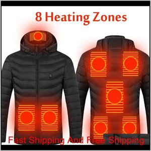 2021 Upgrade 8 Heating Zones Mens Women Heated Outdoor Vest Usb Electric Heated Hooded Long Sleeves Jacket Th qylftD item_home