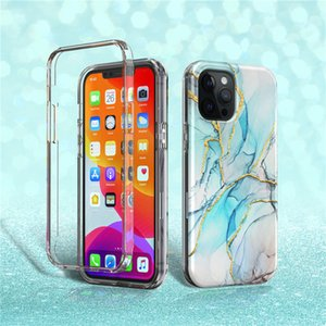 For iPhone 12 Pro Max Case Gree Gradient Marble Phone Case For iPhone 12 Pro 12 Mini 11 Pro Max Case Soft IMD 2 in 1 Phone Back