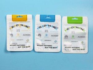 10.5 * 15 Bolsas de plástico de plástico con cremallera OPP PVC Paquete de plástico bolsa de embalaje bolsa para auriculares auriculares auriculares