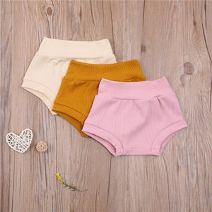 Summer Toddler Girls Clothes Boys Cotton Kids Children Knitted Shorts Infant Baby Clothing 0-24M
