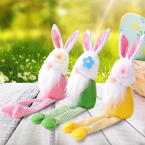Easter Bunny Gnomi Peluche Doll Bambola di compleanno Regalo di compleanno Coniglio Elfo Dwarf Home Decor Spring Collegabile Figurina JK2102PH