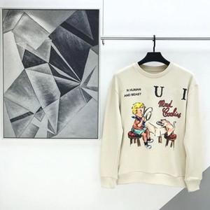 2021 Новый модный бренд Корейский напечатанный свитер с длинным рукавом мужские и женские свободные и универсальные показать тонкую пару главную моду